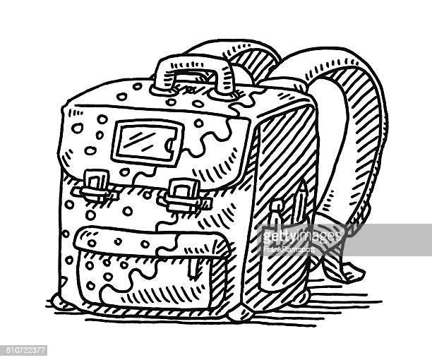 Satchel Schoolbag Drawing