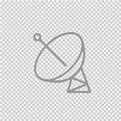 Satellite simple isolated vector icon eps 10.