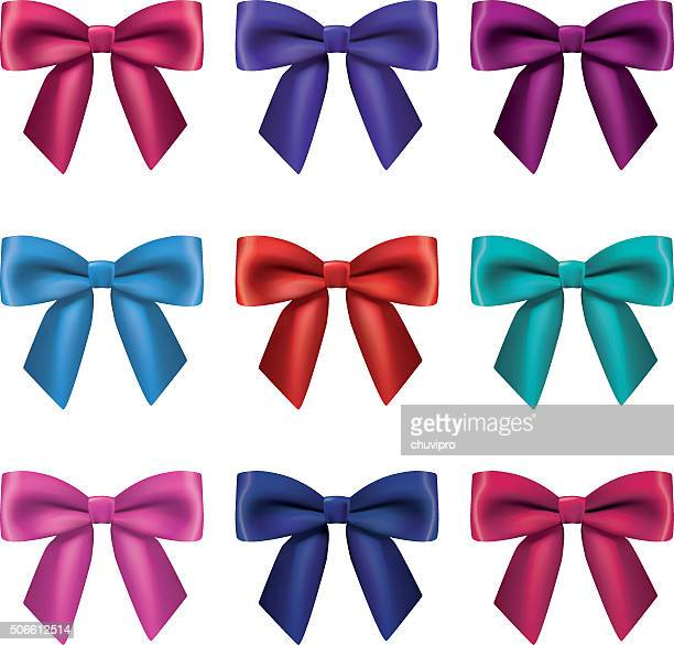 Satin bows set
