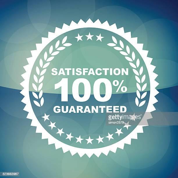 100% Zufriedenheit Garantie-label