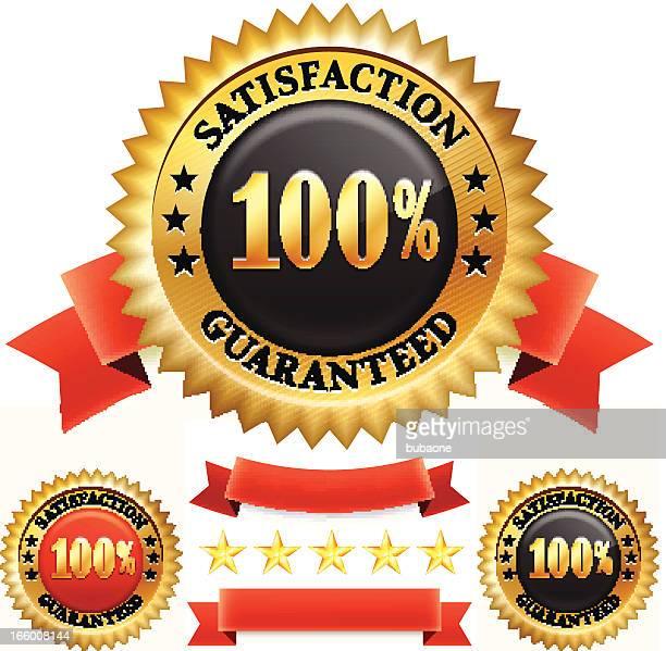Soddisfazione garantita distintivo grafica vettoriale