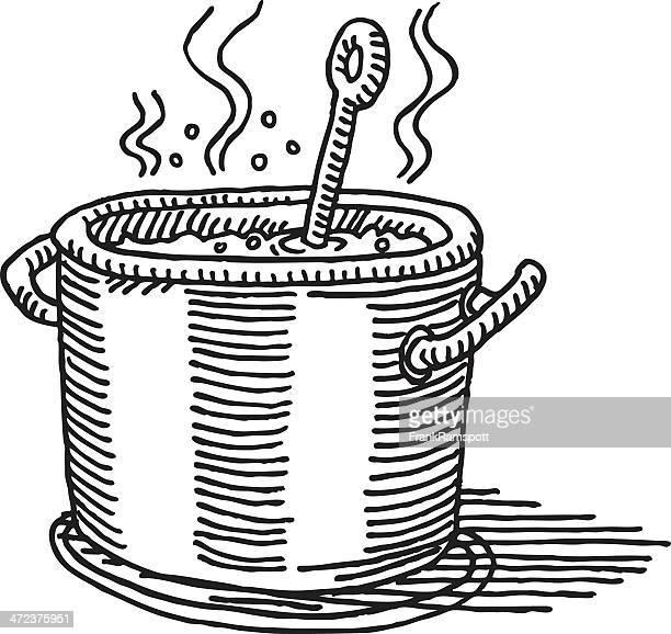 Illustrations et dessins anim s de casserole getty images - Casserole dessin ...