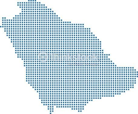 Saudi Arabia Dotted Map Saudi Arabia Map Dots Highly Detailed ...