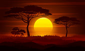 Sunset in Africa.