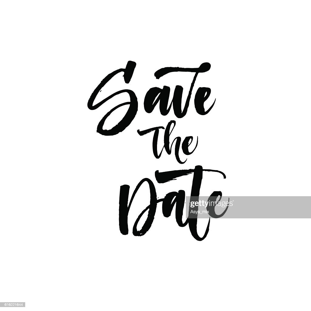 Save the date card. : Vector Art