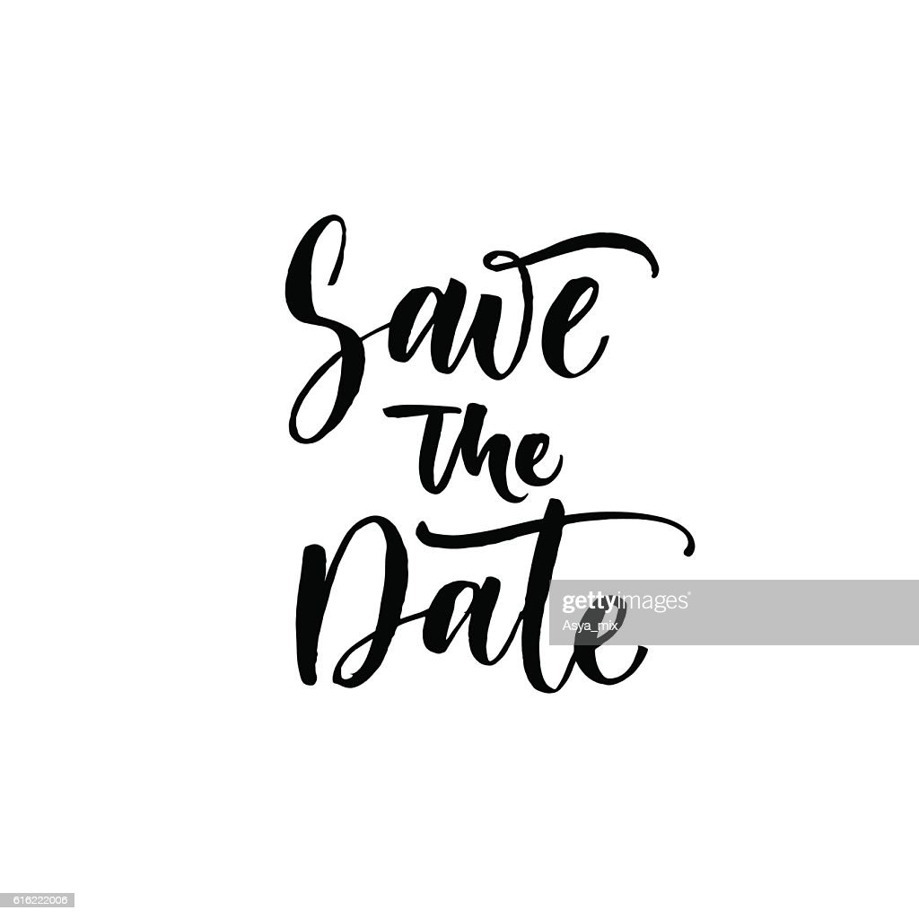 Save the date postcard. : Vector Art