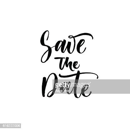 Save the date postcard. : Vector Art