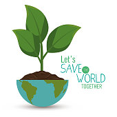 save the world concept icon vector illustration design