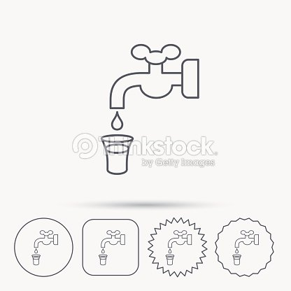 Save Water Icon Crane With Drop Sign Vector Art
