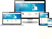 Scalable and flexible modern responsive web design concept vector