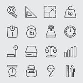 Scale unit  line icon