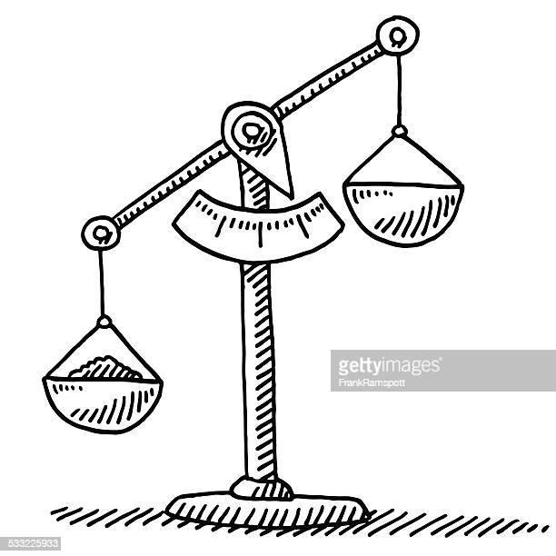 Illustrations et dessins anim s de balance de la justice getty images - Dessin de balance ...