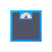 Scales icon. Libra isolated on white background. Vector illustration.