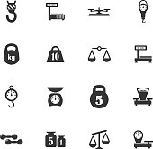 Scales vector icons for user interface design