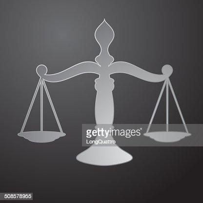 Scale della Giustizia : Arte vettoriale