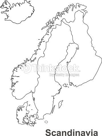 Scandinavia Map In White Background Scandinavia Map Vector Map ...