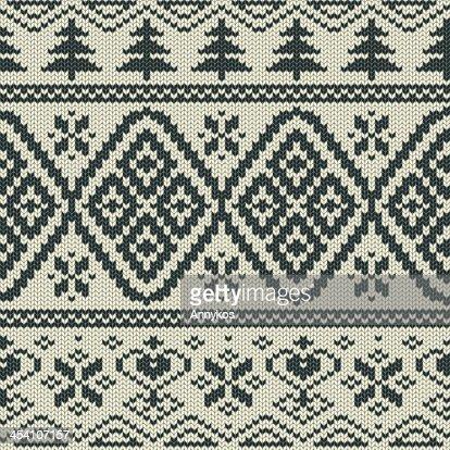 Skandinavische muster  Skandinavische Gestrickte Nahtlose Muster Vektorgrafik | Thinkstock