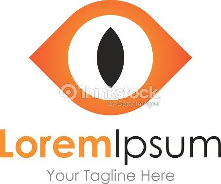 scary monster eye open concept elements icon logo vector art