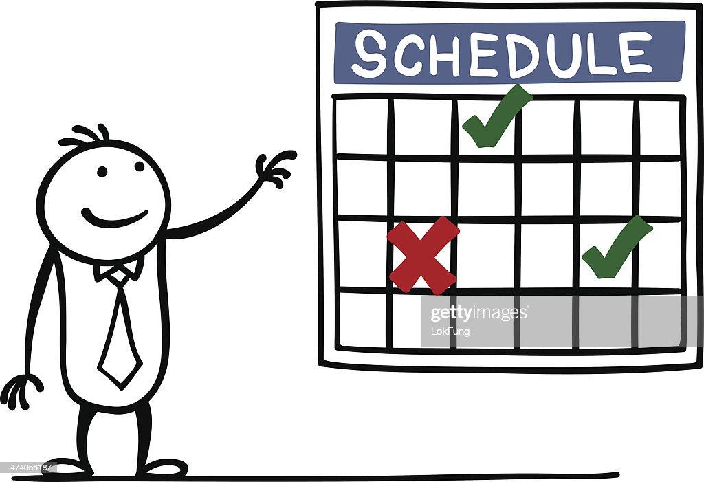 Schedule : Vector Art