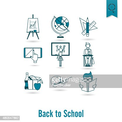 School and Education Icons : Vector Art