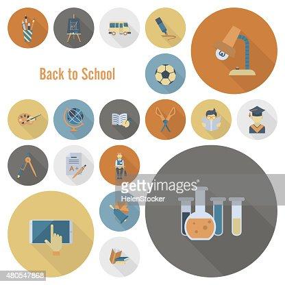 Escuela y educación iconos : Arte vectorial