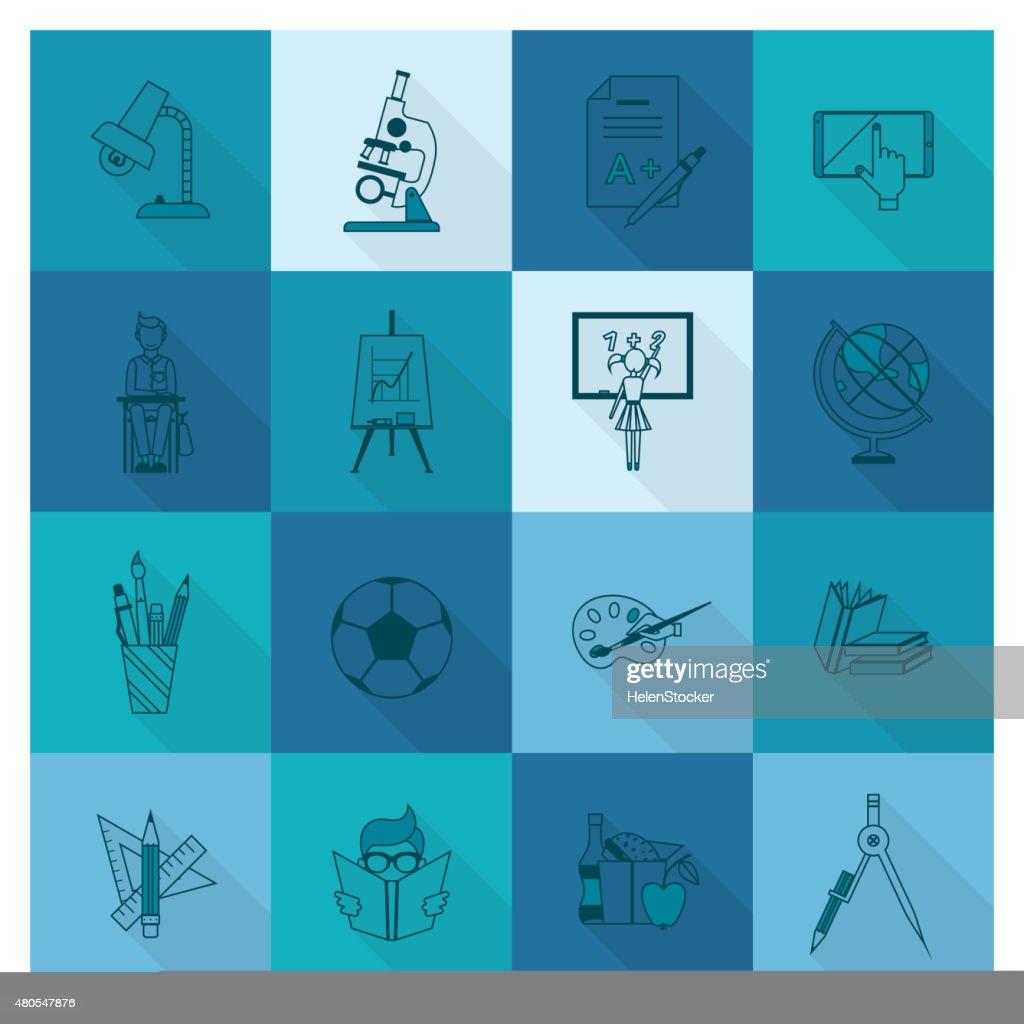 Ícones de escola e educação : Arte vetorial