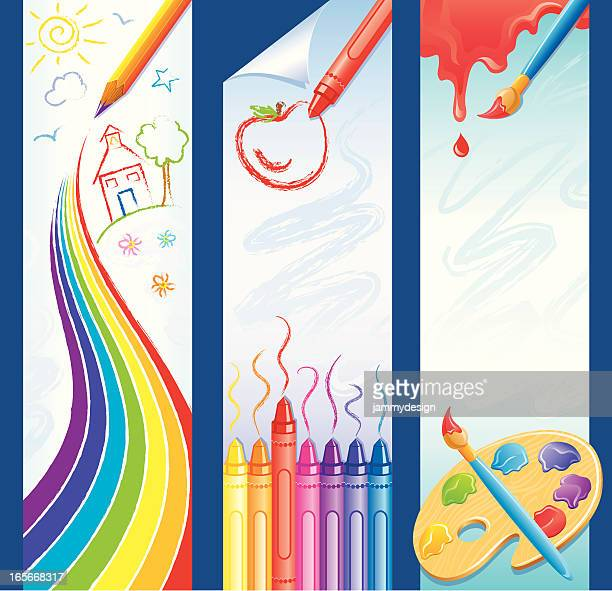 Schule Banner Art-Stil