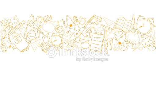 School background with funny sketch and copyspace. Vector. : stock vector