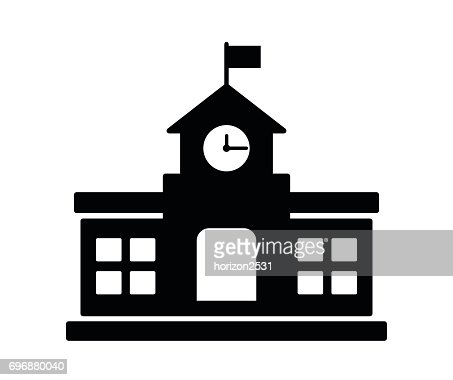 school building icon : Vector Art