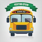 Yellow School Bus, vector illustration