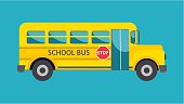 School bus. Simple Cartoon illustration, flat style.