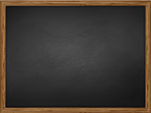 school chalkboard background texture with frame vector. Template for your design.