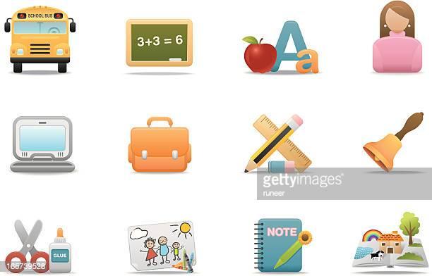 School & Education icons | Premium Matte series
