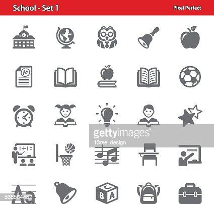 School Icons - Set 1 : stock vector