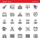 Professional, pixel perfect icons depicting various school and education concepts.