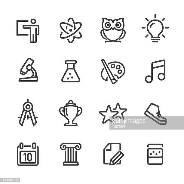 Conjunto de iconos de la escuela-Line
