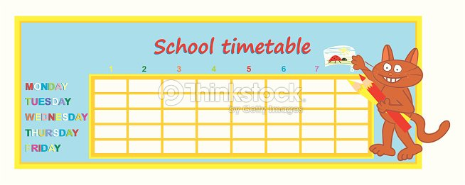 School Timetable Vector Art – School Time Table Designs
