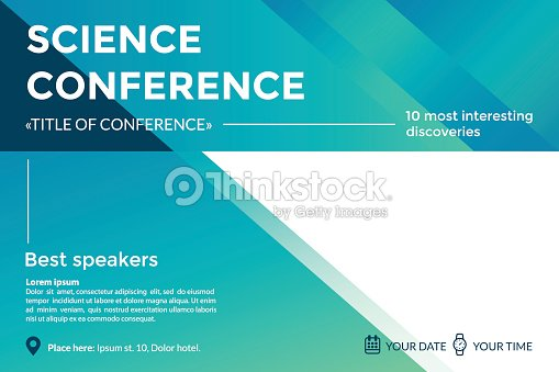 Science conference invitation concept advertising of scientific science conference invitation concept advertising of scientific seminar colorful simple geometric background template stopboris Image collections