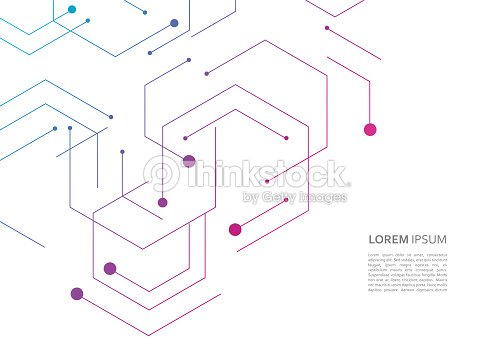 Science network pattern, connecting lines and dots on simple background : stock vector