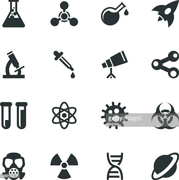Science Silhouette Icons