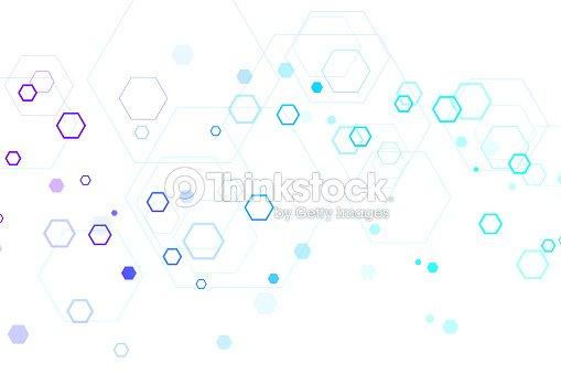 Fondo Científico Molécula Para Ciencia Tecnología