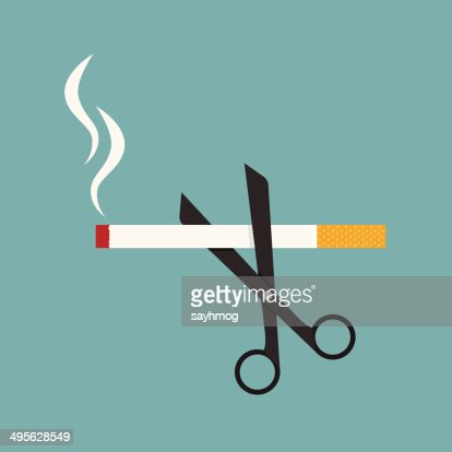 scissors cut a cigarettes : stock vector
