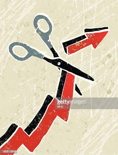 Scissors Cutting Through an Arrow