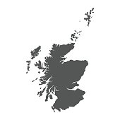 Scotland vector map. Black icon on white background.