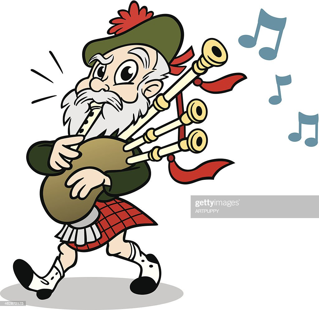 scotsman with bagpipes vector art getty images scottish bagpipe clipart bagpipe clip art free