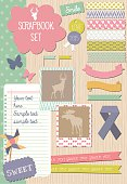 Scrapbook set with diffrent cute elements