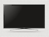 TV screen flat lcd led vector illustration