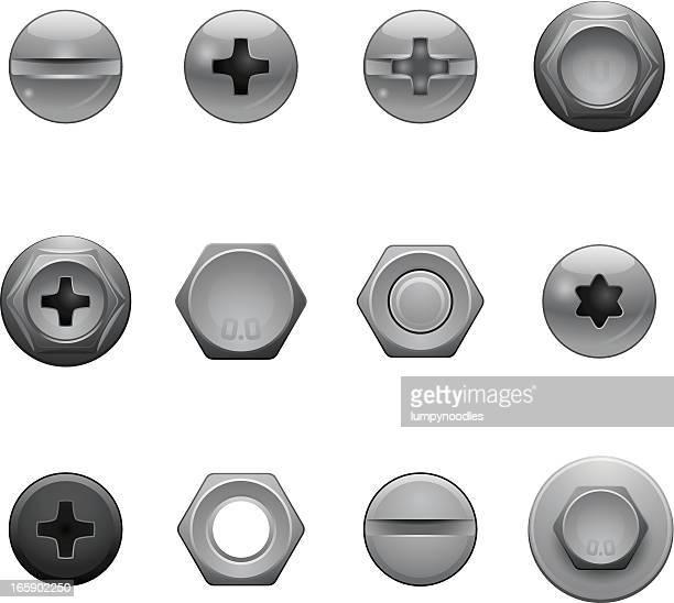 Schraube Kopf Symbole