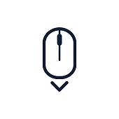 Scroll down up computer mouse icon symbol. Flat style design. Vector illustration.