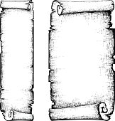 scroll paper banner . hand draw illostration